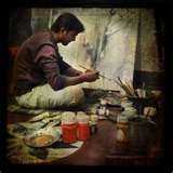 Yep, I'd like to learn how to paint someday. :)Painters Artists Painting, The Artists At Work, Own Business, Artists Studios, Dreams Job, Artworks, Creative Spaces, Learning, Freelance Artists