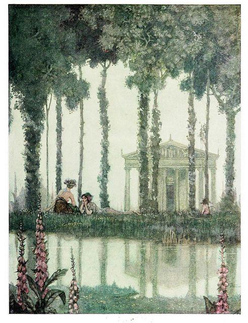 An illustration from A Midsummer's Night Dream by W. Heath Robinson