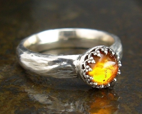 amber ring by marcus berkner jewelry on etsy