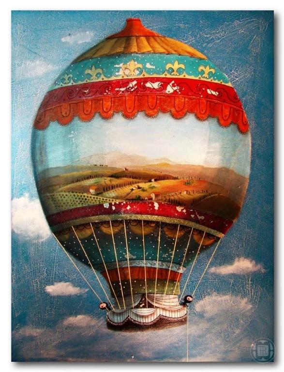 решила винтажные картинки с воздушными шарами выборе