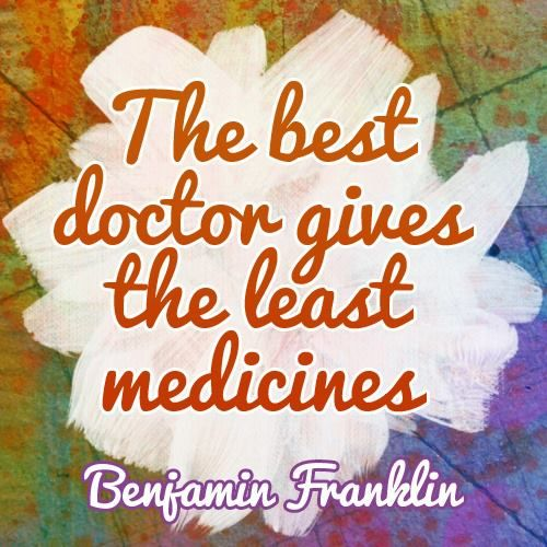 """The #best doctor gives the least medicines."" ~ Benjamin Franklin ☆☆☆ The Good Life Chiropractic * 2620 Telegraph Ave. Berkeley, CA 94704 * (510) 356-4048 * http://www.thegoodlifechiropractic.com"