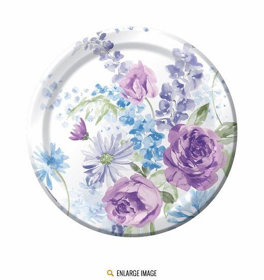 Purple Flower Paper Plates Physic Minimalistics Co  sc 1 st  tagranks.com & Marvelous Floral Paper Plates And Napkins Images - Best Image Engine ...