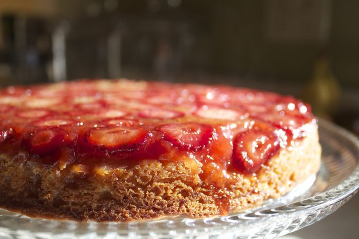 Strawberry Cardamom Upside-Down Cake | Upside Down Cakes | Pinterest