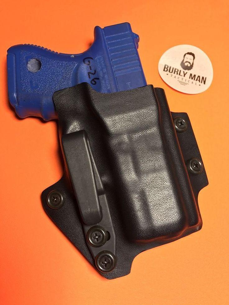 Black Kydex Black Hardware CCW Holster Glock 26 G26 IWB Appendix Concealed RCS  | eBay