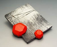Artist: Julia Turner: Red Float Brooch