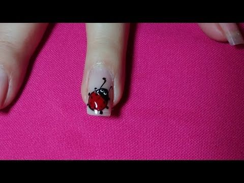 Decoración de uñas mariquitas - Lady bug nail art - YouTube