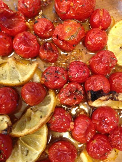cherry tomato confit, a perfect condiment to serve along side everything — Mrs Wheelbarrow's Kitchen