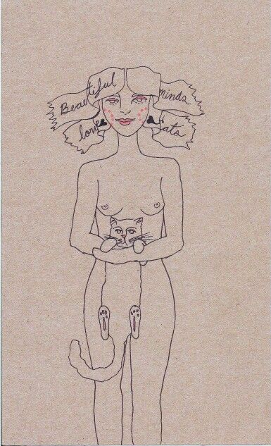 Beautiful minds love cats by Meow María
