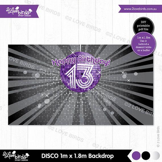 Disco Printable Backdrop by 2LoveBirdsDesign on Etsy