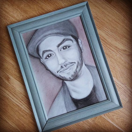 Framed Realistic Portrait! Made to order! by thehappylittlejar on Etsy