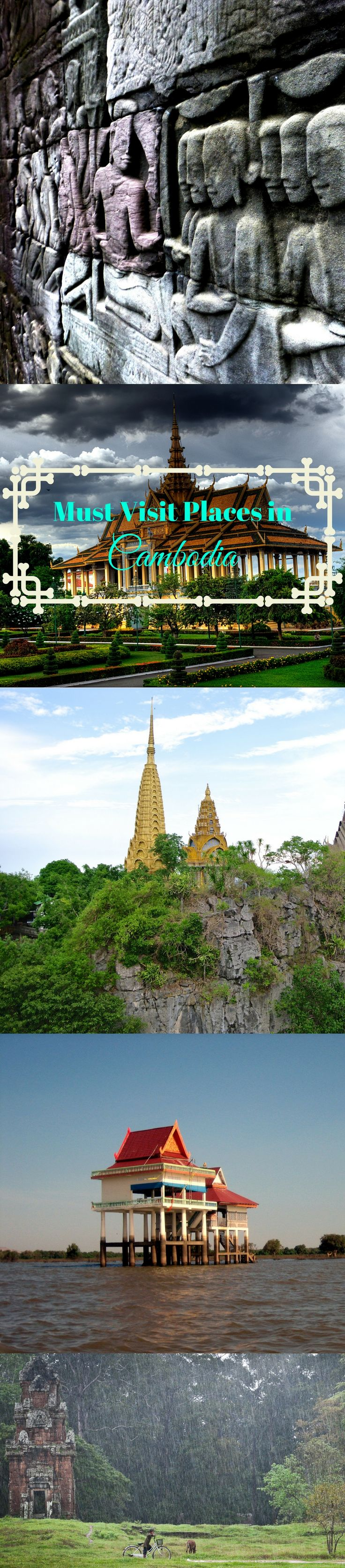 12 Places You Need to See on Your Cambodia Holiday. #GoTripovo #Tripovo #travel #Cambodia #Asia #travelguide #tour #trip #nature #mustvisit #places #PhnomPhen #SiemReap #Battambang #BanteayChhmar #TonleSap #KompongCham #Kratie #KohKong #Sihanoukville #KohRong #Kampot #Kep