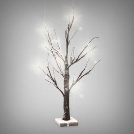 Árvore LED com Ramos e Neve