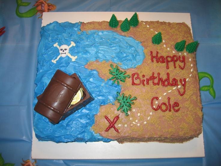 pirate treasure cake