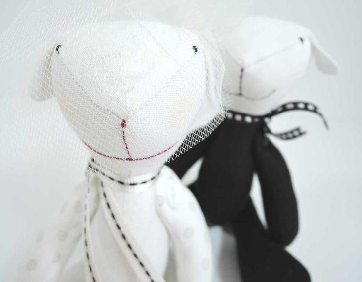 Misie ślubne Żona i Mąż! Szmaciane misie idealne na prezent dla Młodej pary. #misieślubne #ślub #wesele  Dostępne w sklepie internetowym Madame Allure!