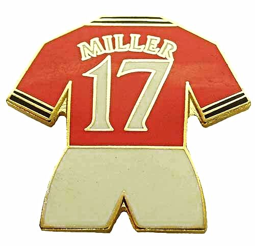 United Players Kit Badge No17 Miller Home