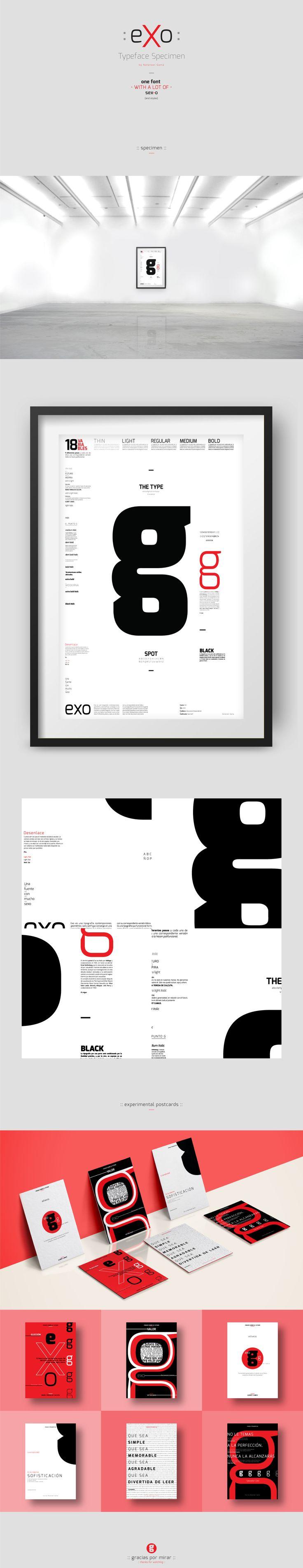 :: e x o :: Espécimen tipográfico | Typeface specimen on Behance