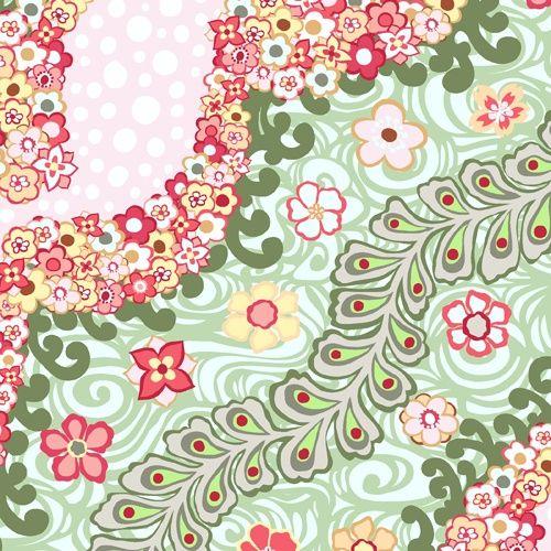 Tokyo Rococo: A-5636-E by Carol Van Zandt for Andover Fabrics