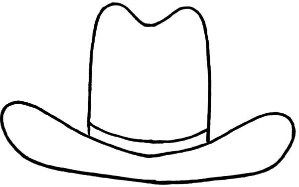 Cowboy Hat Cowboy Hat Outline Coloring Pages
