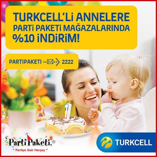 PartiPaketi ve Turkcell'den Turkcelli ve Akıllı Kadınlar Kulübü'lü annelere özel kampanya!#PartiPaketi #Parti #Eğlence #PartiMalzemeleri #kampanya