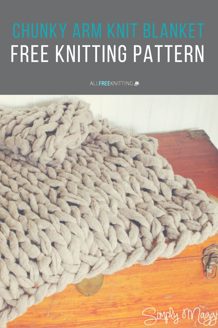 Use this arm knitting pattern to create a Chunky Arm Knit Blanket that's perfect for your home.