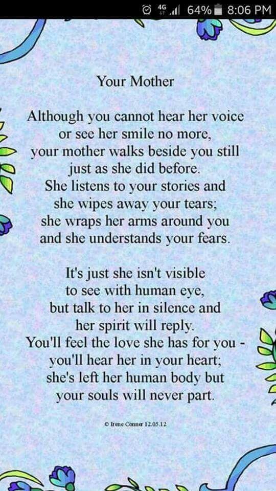 Poem on Deceased Mothers