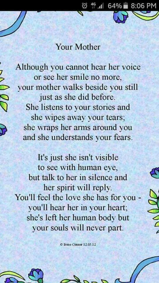 Poem on Deceased Mothers