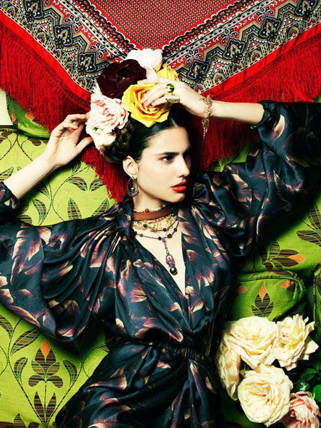 Iliana Papageorgiou - the Fashion Spot Frida Khalo Inspiration.