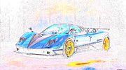 "New artwork for sale! - "" Pagani Zonda Tricolore by PixBreak Art "" - http://ift.tt/2kHe9AH"