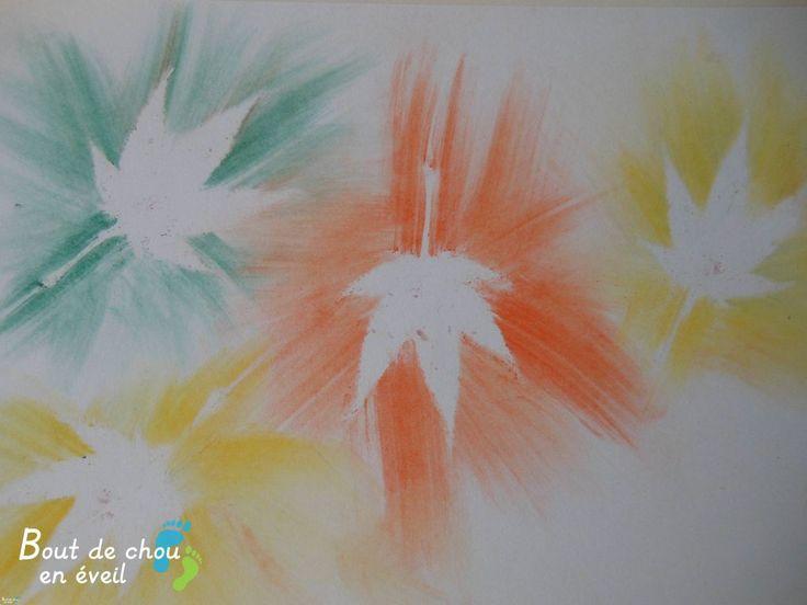 activit d automne avec de la poussi re de pastels activit s enfants 5 6 ans pinterest. Black Bedroom Furniture Sets. Home Design Ideas