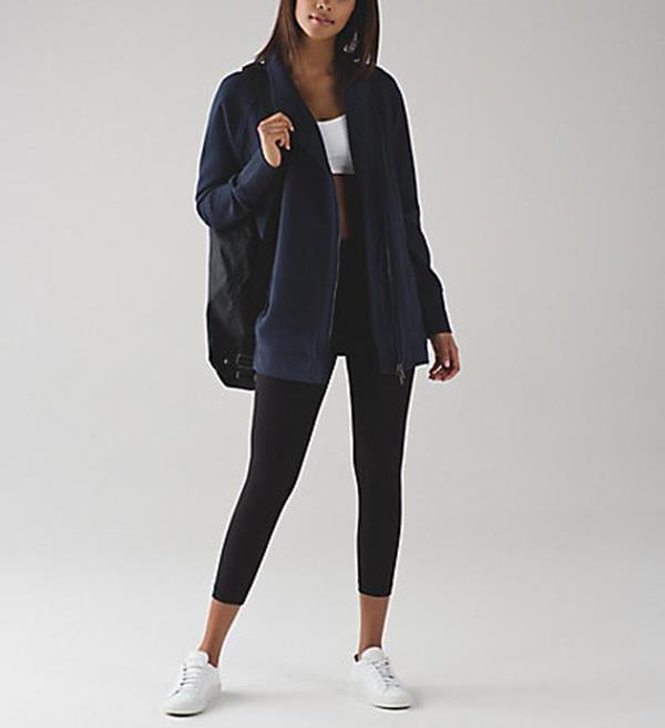 LULULEMON ATHLETICA Back To It Wrap 10 Fleece Jacket Inkwell Faded Blue NWT #Lululemon #TrackJacket