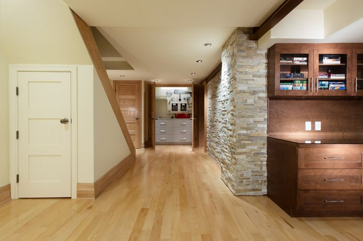 basement renovation, living room, oxford, notre-dame-de-grâce, montreal
