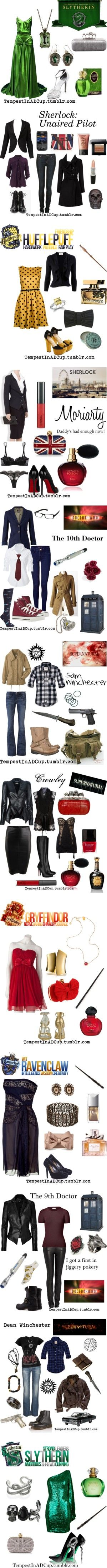 """Got Fandom?"" by rubylebeau ❤ liked on Polyvore Awesome outfit ideas that take after awesome shows"