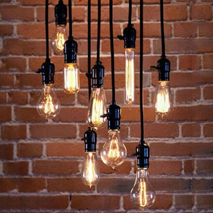 KINGSO 5x E27 Socket Screw Bulbs Edison Retro Pendant Lamp Holder With Switch 110-220V Black - - Amazon.com