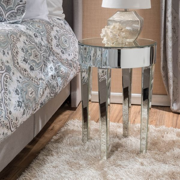 Superb Christopher Knight Home Normandie Mirrored Round End Table