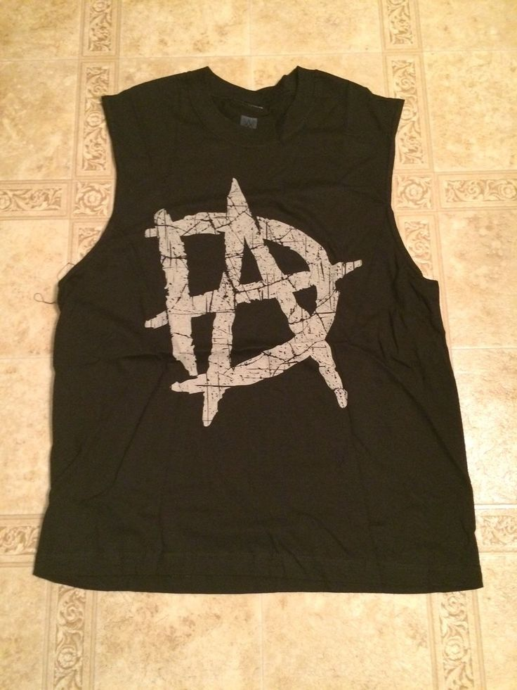 DEAN AMBROSE DA Logo WWE Muscle Black T-Shirt Men's XL NEW Shield - http://bestsellerlist.co.uk/dean-ambrose-da-logo-wwe-muscle-black-t-shirt-mens-xl-new-shield/