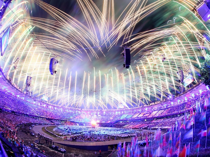 The spectacular Opening Cermony of the London 2012 Olympics is underway at the Olympic Stadium...