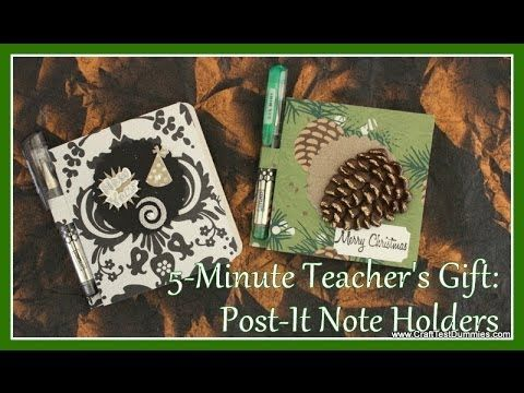 Post-It Note Holder: 5-Minute Gifts! - YouTube