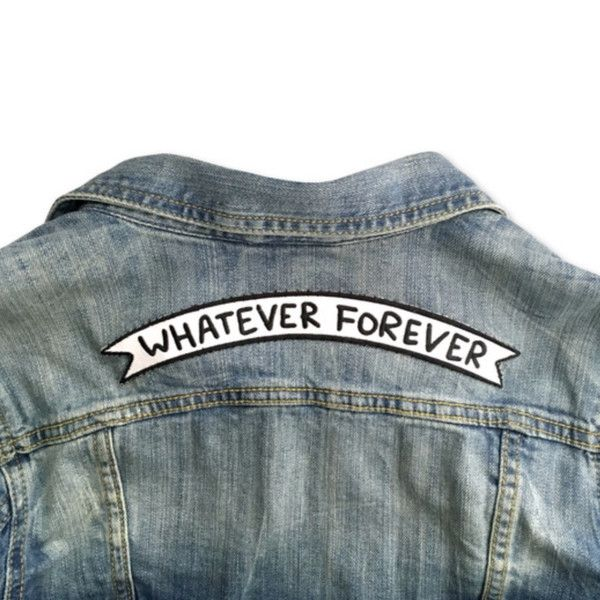 "Leviticus Jewelry's ""Whatever Forever"" Banner Patch   I'm in love with patches and I'm here for denim jackets"