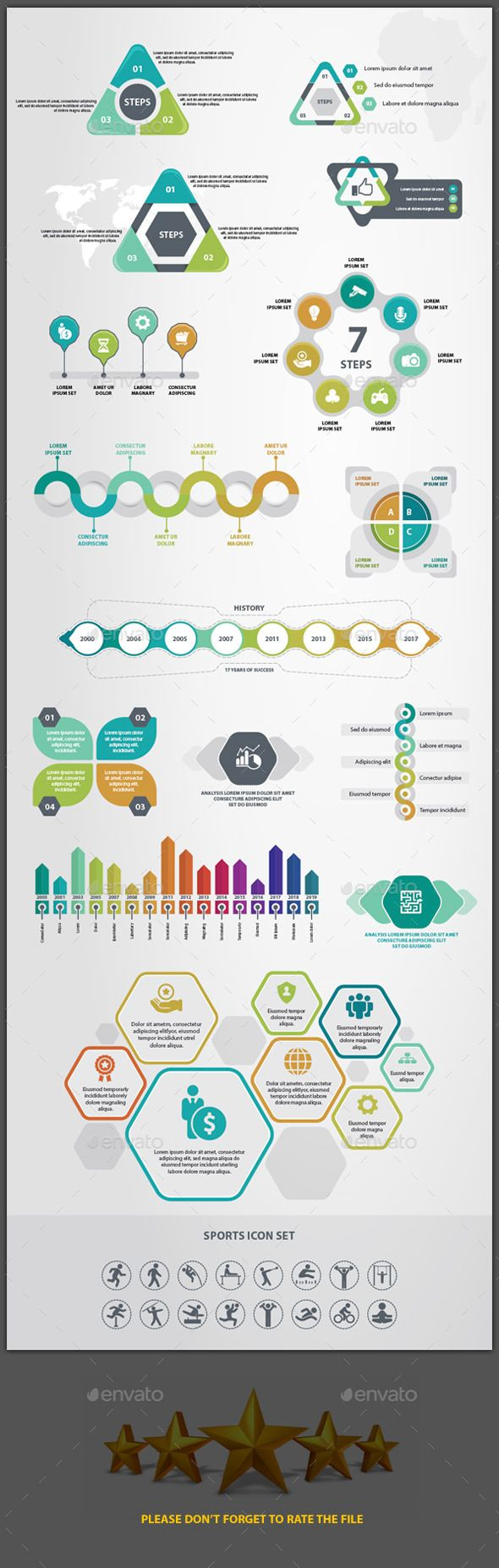 Infographics (Charts and Icons) — Vector EPS #graphs #info-graphic • Available here → https://graphicriver.net/item/infographics-charts-and-icons/15605052?ref=pxcr