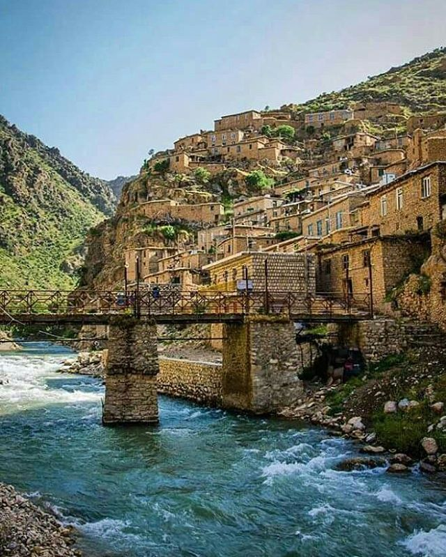 The picturesque Kurdish Village Palangan in the Province Kurdistan in western Iran.