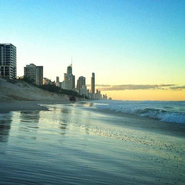 Another beautiful Gold Coast #sunset from Broadbeach looking towards Surfers Paradise