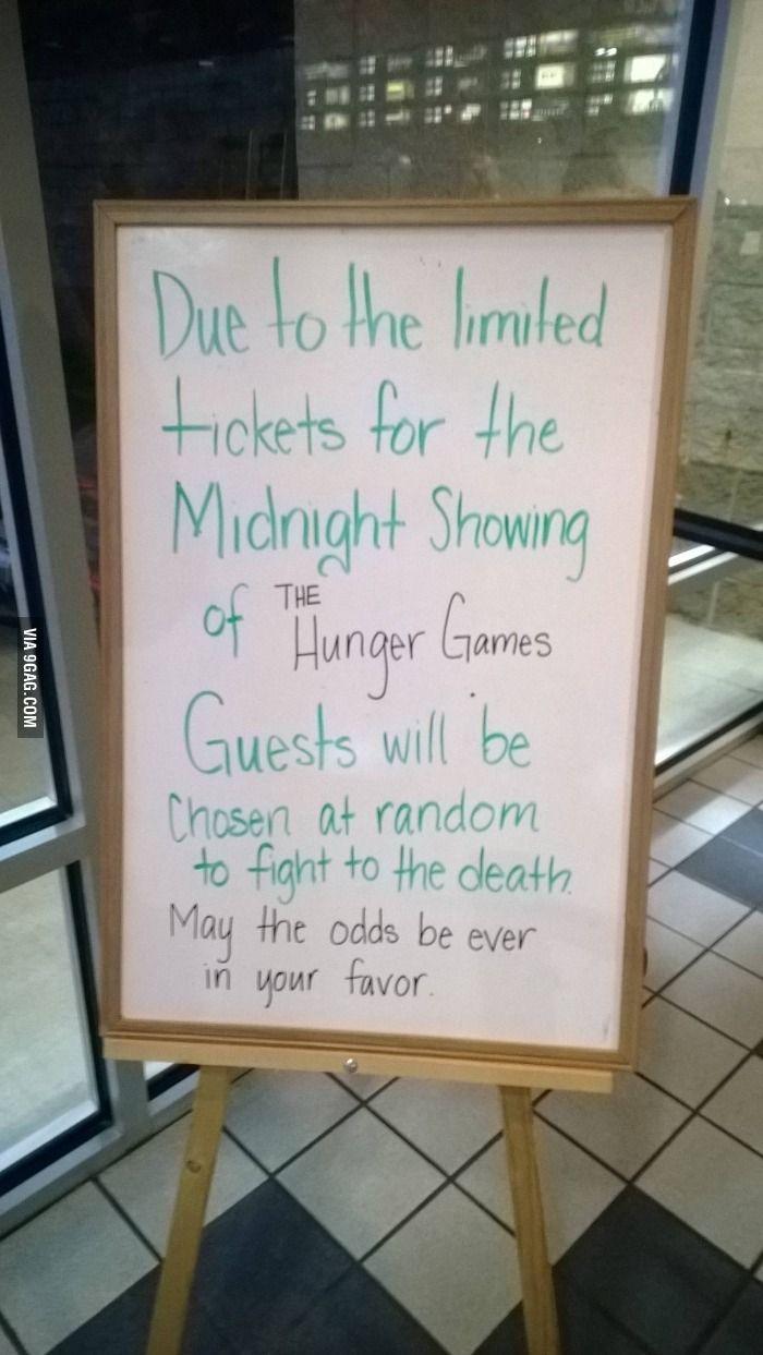 Movie Theatre with a sense of humor...
