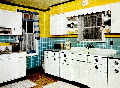 Vintage Yellow Country Kitchen 1181 best vintage kitchens images on pinterest | retro kitchens