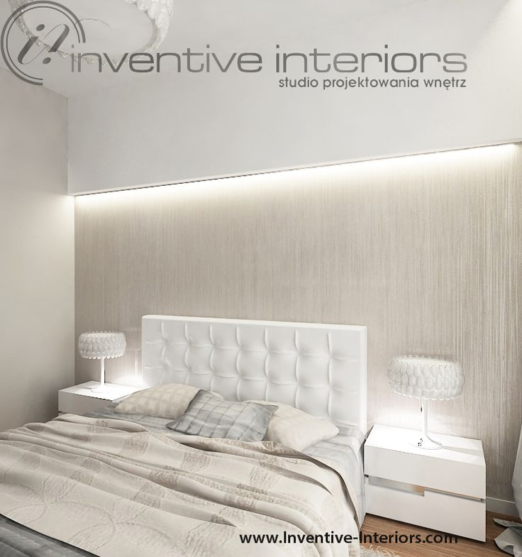 Projekt sypialni Inventive Interiors - beżowa klimatyczna sypialnia