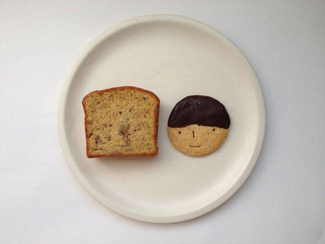 「foodmood」のクッキーとバナナケーキ