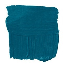 """BENJAMIN MOORE BAINBRIDGE BLUE 749: Mario Buatta:  """"I'm blue, I'm blue! I'm a happy guy but I have always loved blue, in all its shapes and sizes. For libraries and dining rooms, I like this deep Mediterranean blue. I'd use it glazed and shiny, and bring in reds and greens and pinks. Every color looks fresh against blue. Put lemon yellow with it and it will look like a Matisse painting."""""""