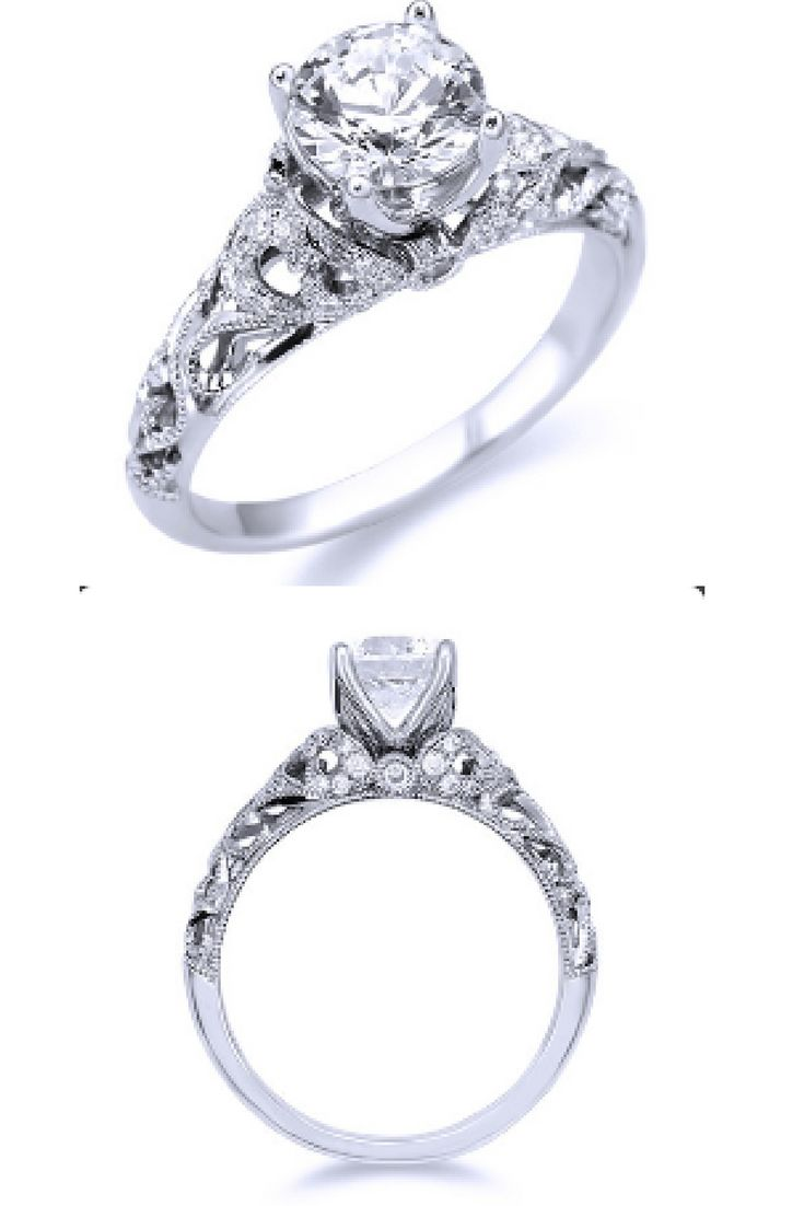 Parade Vintage Inspired Diamond Engagement Ring R3512/RD1 | Andrews Jewelers, Buffalo, NY