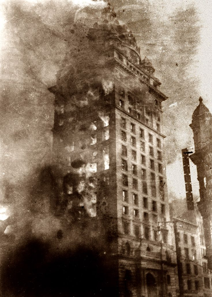 """The Burning of the Call."""" The San Francisco Call newspaper ..."""