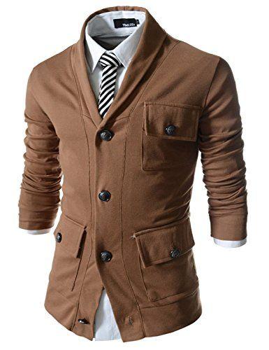 Showblanc (SBGD133) Homme Figure Hugging Shawl Collar Point 4 Button Cardigan BROWN X-Large(Chest 40) Showblanc http://www.amazon.com/dp/B014R6O9GS/ref=cm_sw_r_pi_dp_oygmwb1Q5Z90W
