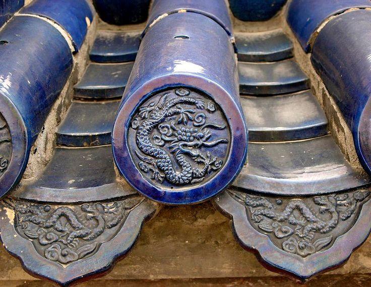 ceramic roof tiles - temple of heaven, beijing